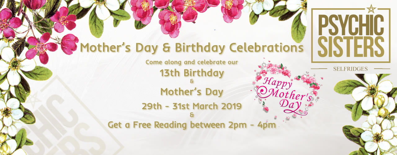 Jayne Wallace and the Psychic Sisters, Selfridges, London, Aura Reading, Clairvoyance Reading Mother's Day and Birthday Celebrations