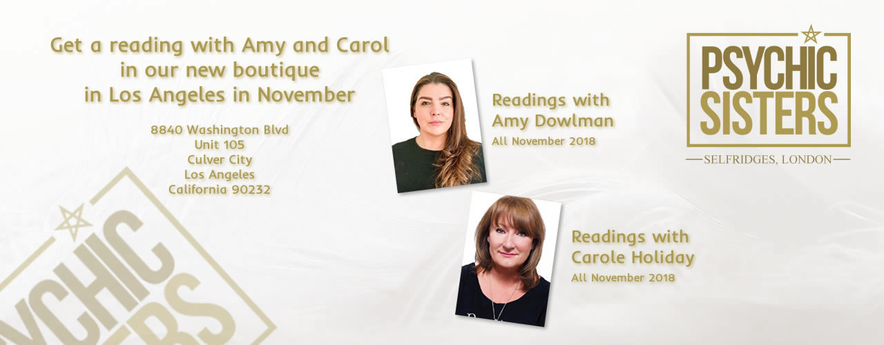 Jayne Wallace and the Psychic Sisters, Selfridges, London, Aura Reading, Clairvoyance Reading Readings in new Boutique in LA