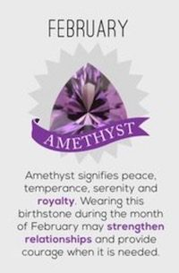 February Birthstone: Amethyst