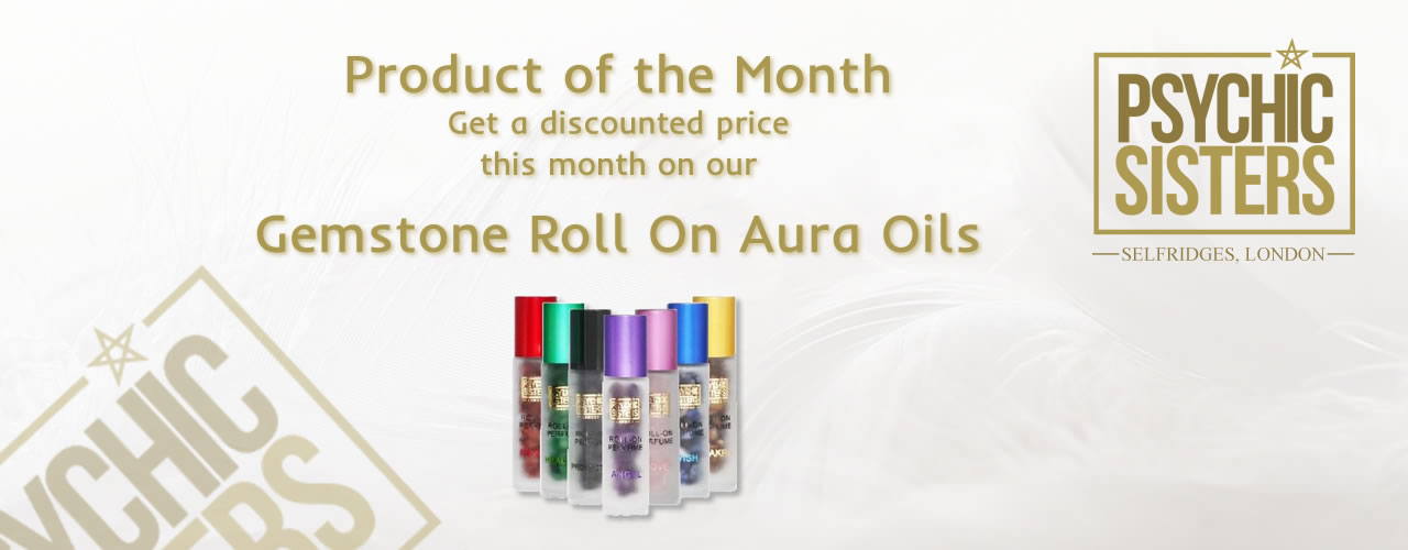 Jayne Wallace and the Psychic Sisters, Selfridges, London, Aura Reading, Clairvoyance Reading January  Product of the Month - Gemstone Roll on Aura Oils