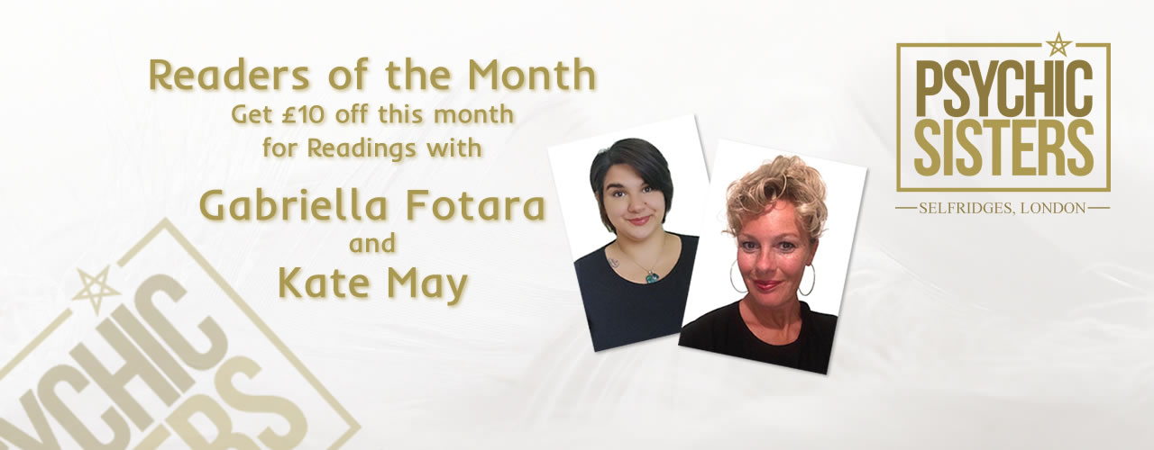 Jayne Wallace and the Psychic Sisters, Selfridges, London, Aura Reading, Clairvoyance Reading January Readers of the Month Gabriella Fotara and Kate May